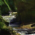 Finnich Glen Waterfall by Colstie