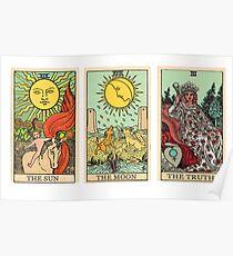 Póster The Sun, The Moon, The Truth [Tarot]