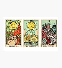 Die Sonne, der Mond, die Wahrheit [Tarot] Fotodruck