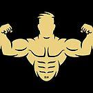 Bodybuilder (Bodybulding / Biceps / Athletic Sports / Beige) by MrFaulbaum