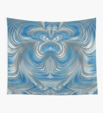 Nickel Blue Abstract Wall Tapestry