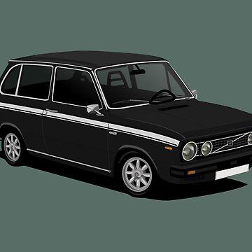 V 66 Combi - vintage car illustration - black by knappidesign