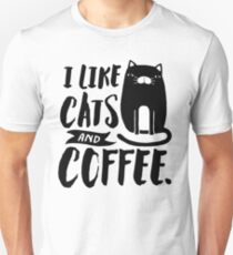 I Like Cats and Coffee Unisex T-Shirt