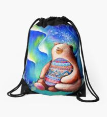 Spirit Bear Drawstring Bag