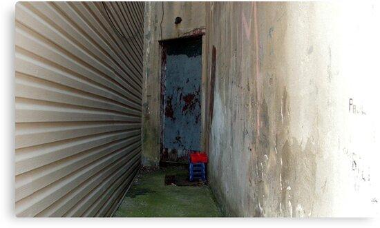 Blue Door Alley by GolemAura