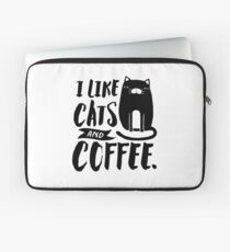 I Like Cats and Coffee Laptop Sleeve