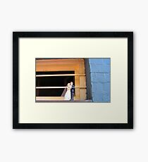 Cake Topper Abandoned on Window Sill of the House of Sufism Framed Print
