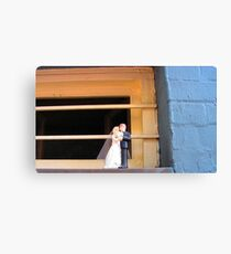 Cake Topper Abandoned on Window Sill of the House of Sufism Canvas Print