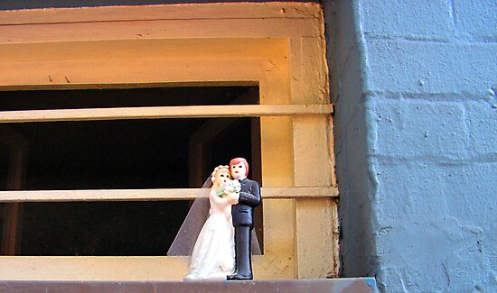 Cake Topper Abandoned on Window Sill of the House of Sufism by GolemAura