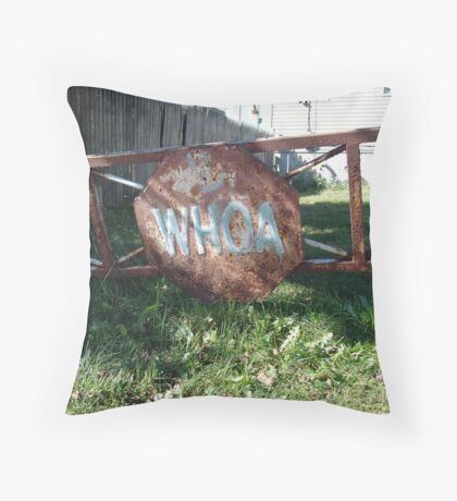 WHOA! Throw Pillow