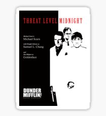 Threat Level Midnight Poster - The Office Sticker