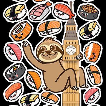 Sloth Sushi London by plushism
