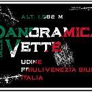 Panoramica delle Vette Italy 02 T-Shirt & Sticker  by ROADTROOPER