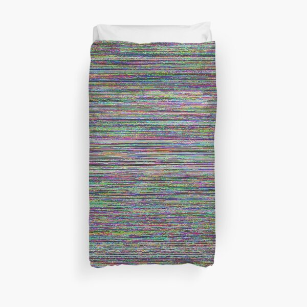 Glowing Glitch Noise Duvet Cover