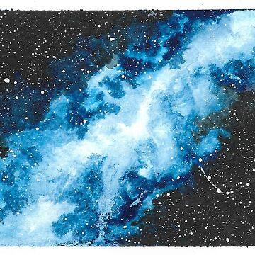 Watercolour Galaxy II by christinaashman