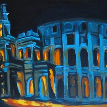 Night at the Roman Colosseum by Johnhalifax