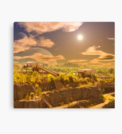 Old Iron Mine Canvas Print