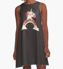 Unicorn Don't Care A-Line Dress