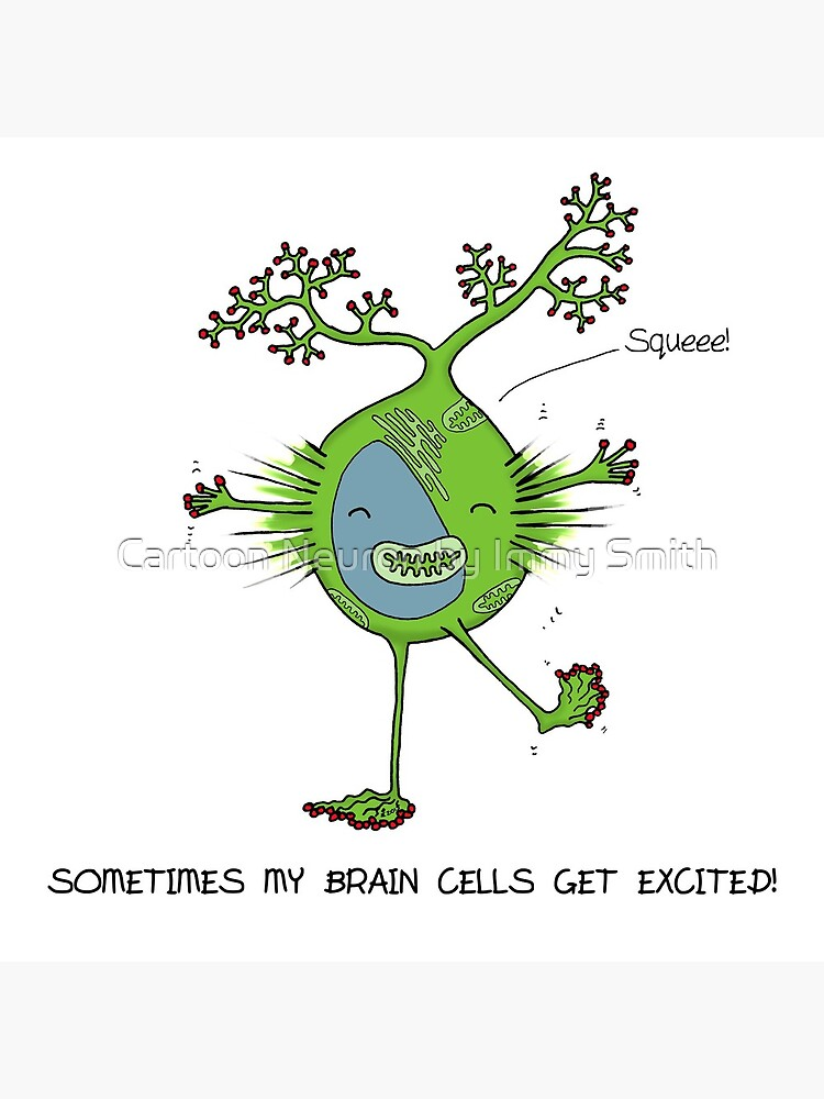 Excited neuron! by Immy