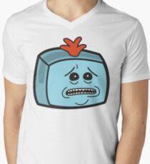 Mr. Meeseeks - Rick and Morty Boxheadz Dimension V-Neck T-Shirt