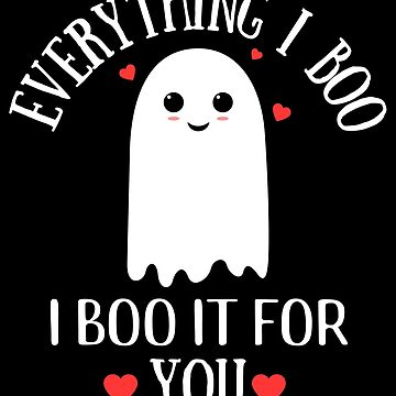 Funny Romantic Cute Halloween Ghost by mrhighsky