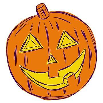 Retro Jack O' Lantern - Orange by MOREDANKMEMES