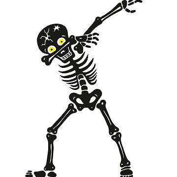 Dabbing Halloween Skeleton   by Maka4
