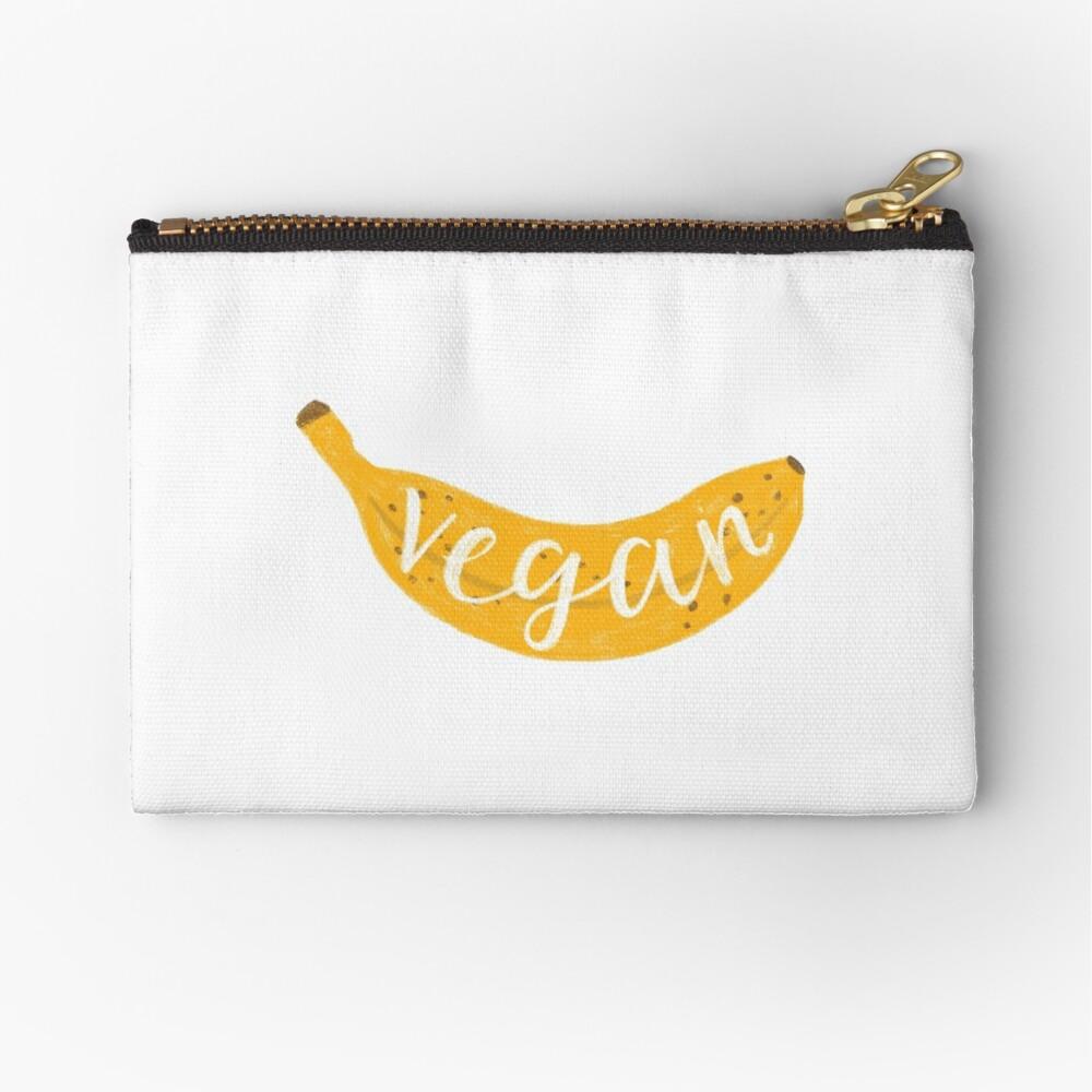 Vegan banana Zipper Pouch
