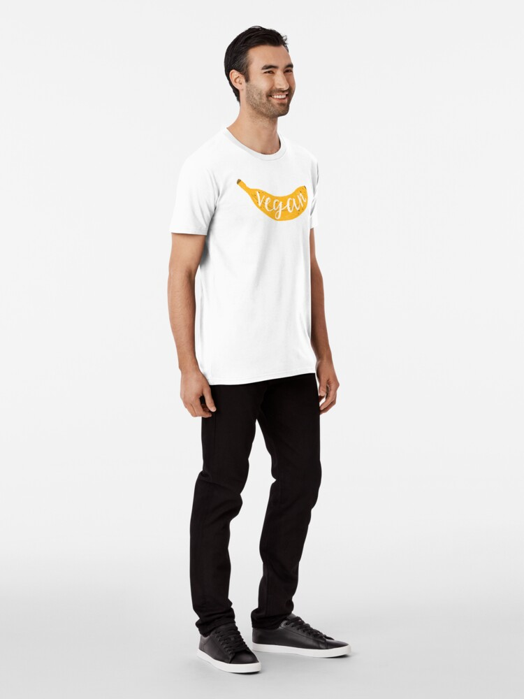 Alternate view of Vegan banana Premium T-Shirt