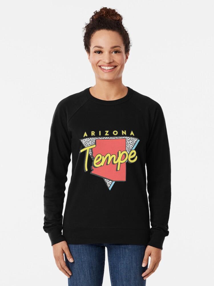 Alternate view of Tempe Arizona Souvenirs AZ Retro Lightweight Sweatshirt