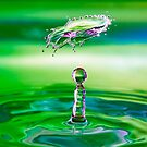 Green Water Drop and Floating Collision by Steven Green