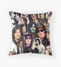 Norman Reedus Collage Throw Pillow