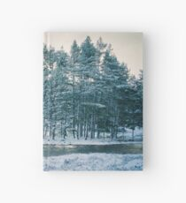 Winter at a Loch Near Kingussie Hardcover Journal