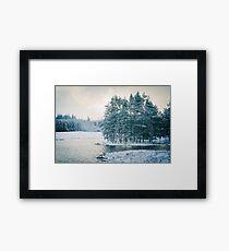 Winter at a Loch Near Kingussie (Cat Burton Photography) Framed Print