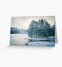 Winter at a Loch Near Kingussie (Cat Burton Photography) Greeting Card