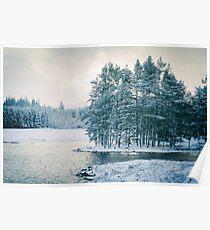 Winter at a Loch Near Kingussie (Cat Burton Photography) Poster