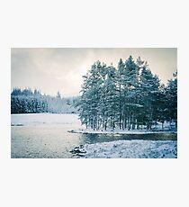 Winter at a Loch Near Kingussie (Cat Burton Photography) Photographic Print