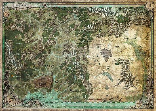 Drachenpass und umliegende Regionen von Olivier Sanfilipo von Chaosium