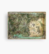Dragon Pass and Surrounding Regions by Olivier Sanfilipo Canvas Print