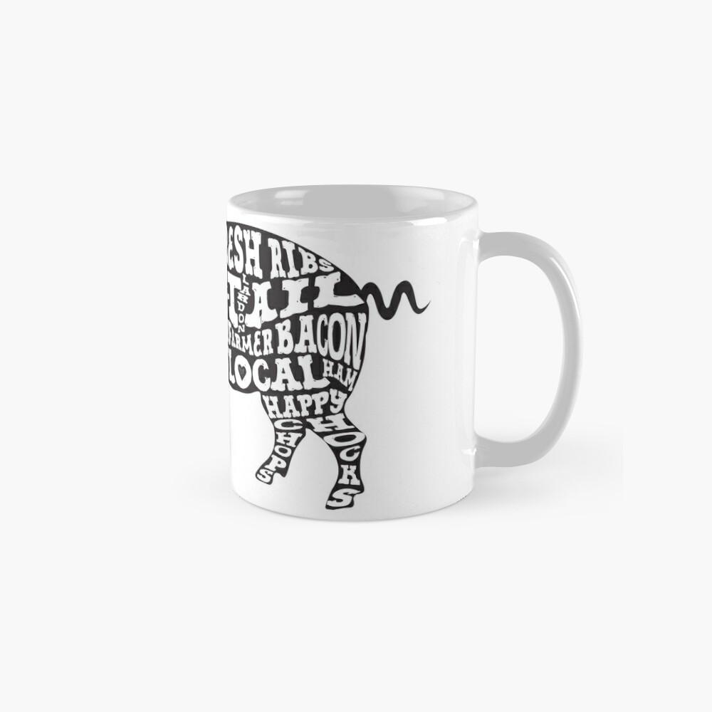 Whole Hog Black Mug