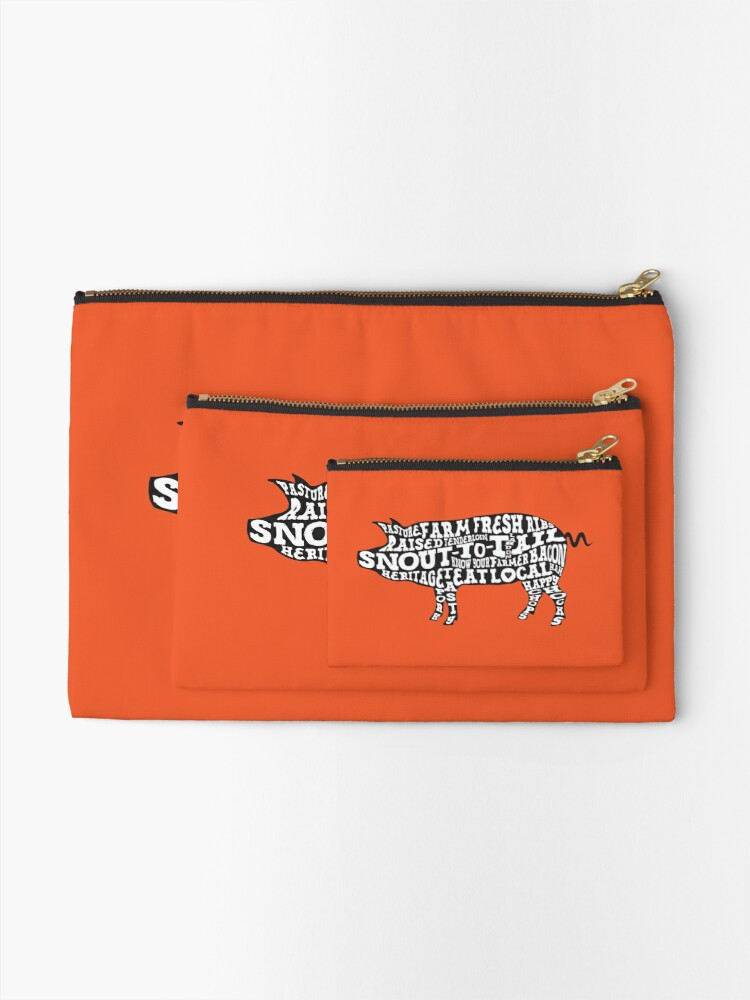 Alternate view of Whole Hog Black Zipper Pouch