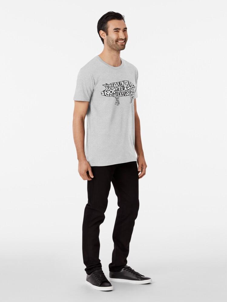 Alternate view of Whole Hog Black Premium T-Shirt