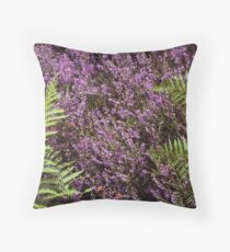 Heather and Fern Throw Pillow