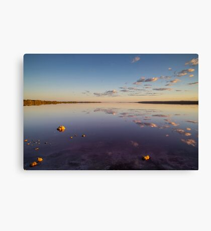 Sunrise over Pink Lake Canvas Print