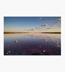Sunrise over Pink Lake Photographic Print