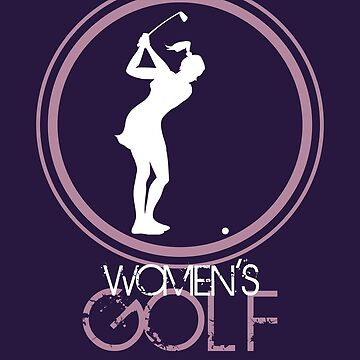 A woman silhouette playing golf logo style for female golf club by MegaSitioDesign