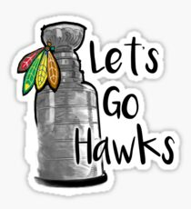 Let's Go Hawks Sticker