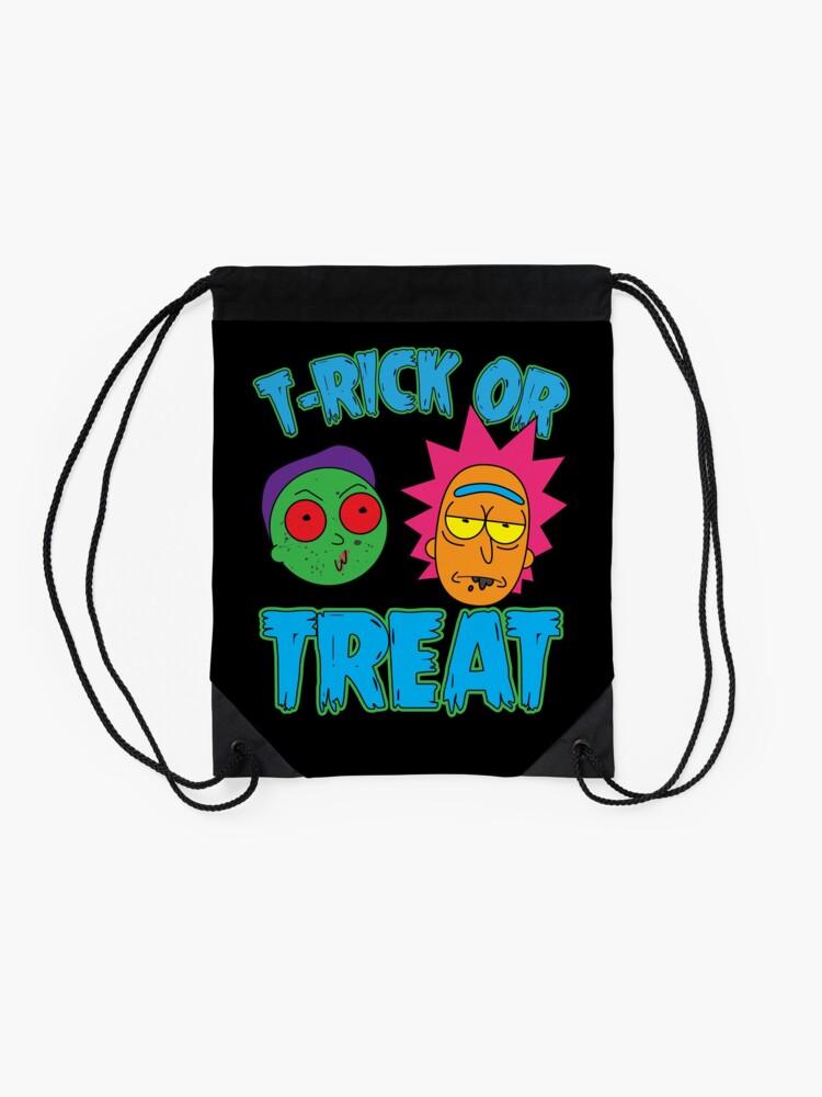 Alternate view of T-Rick Or TREAT Drawstring Bag