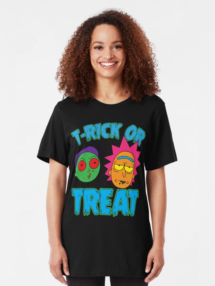Alternate view of T-Rick Or TREAT Slim Fit T-Shirt