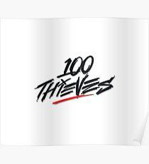 100Thieves Logo Poster